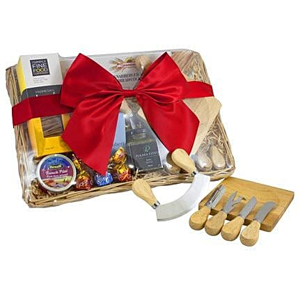 Cheese Set Picnic Basket: Gift Delivery in Brisbane