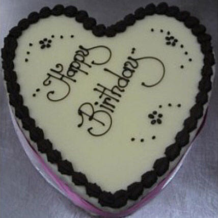 Heart Shaped Boston Mud Cake Valentines Day Delivery In Australia