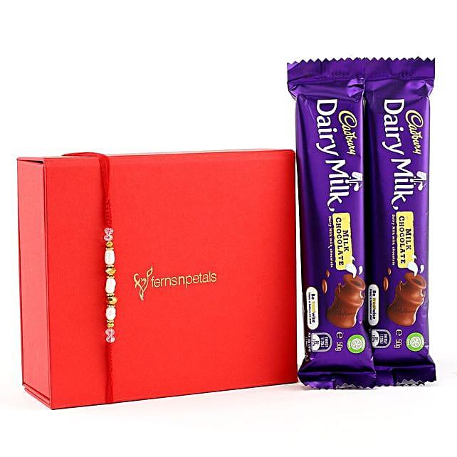 Rajaji Rakhi With Two Dairymilk Chocolates: