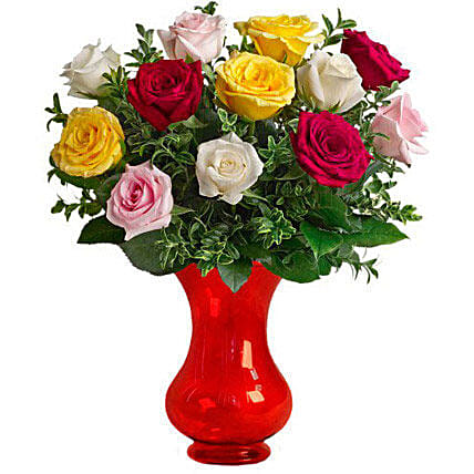 Dozen Assorted Roses: Birthday Flower Delivery in Australia