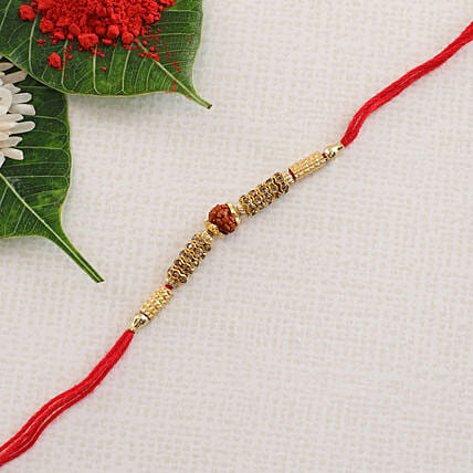 American Diamond Single Rudraksha: Send Rakhi to Bulgaria