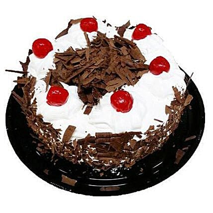 Black Forest Cake Half Kg: Father's Day Gifts in Canada