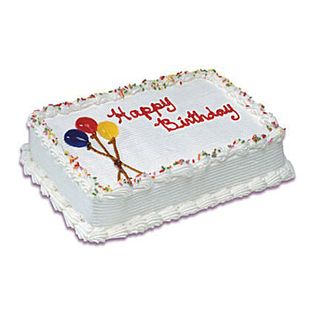 Birthday Special Vanilla Cake 1 Kg: