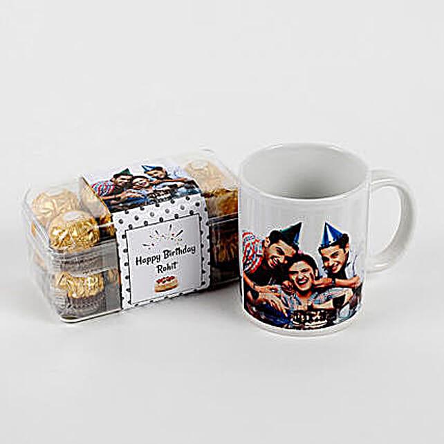 Personalised Mug And Ferrero Rocher Combo Birthday: Personalised Gifts Canada