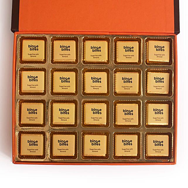 20 Pcs Sugarfree Almond Chocolate Box: Chocolates for birthday