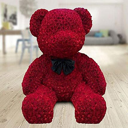 2000 Red Roses Giant Teddy: