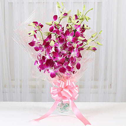 6 Royal Orchids Bunch: Send Orchids
