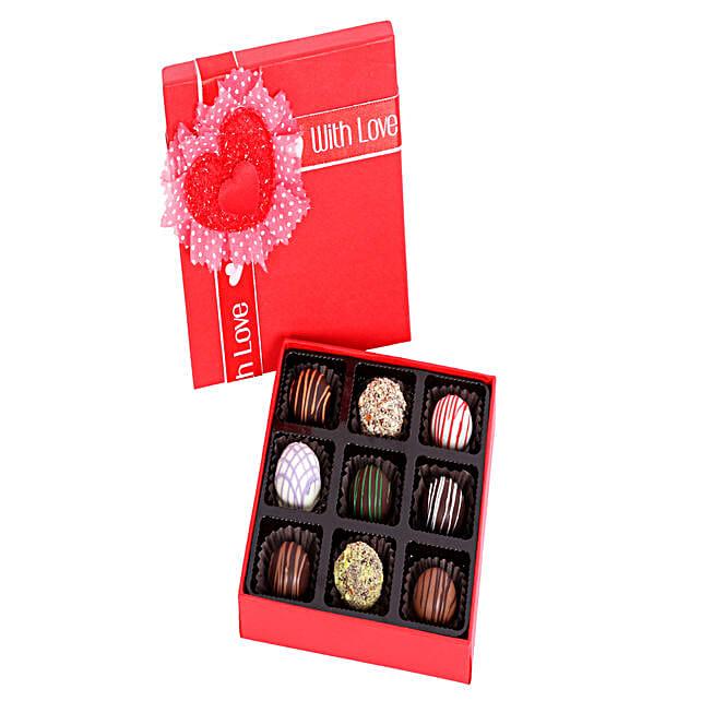 9 Assorted Chocolate Truffles: Homemade Chocolate Gifts