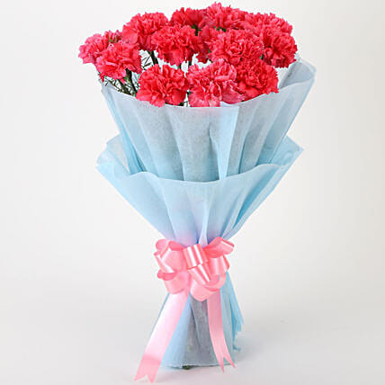 Adorable Pink Carnations Bouquet: Carnations