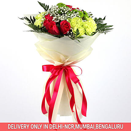 Alluring Bouquet Of Mixed Flowers: