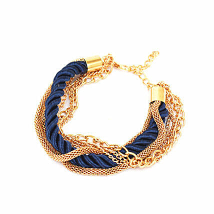Amazing Navy Blue Stacked Party Bracelet: Friendship Day Bands