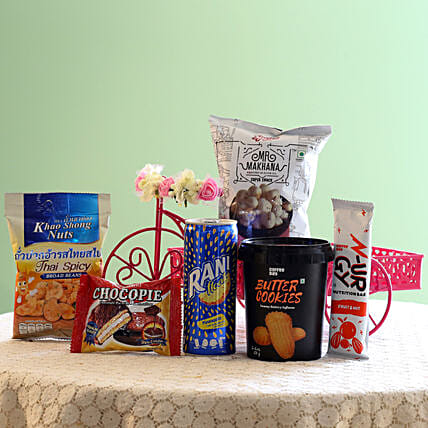 Assorted Healthy Snack Hamper: Send Gifts for Parents Day