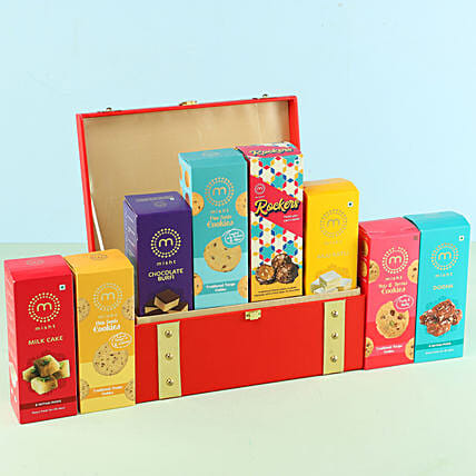 Assorted Misht Sweets Cookies Red Gift Box: Send Gift Hampers