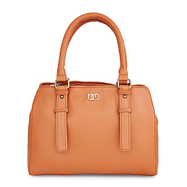 Bagsy Malone Mauvy Mustard Handbag: Handbags and Wallets
