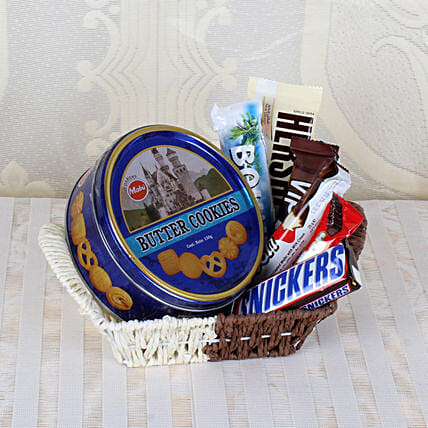 Basket Of Chocolates & Cookies: Send House Warming Gift Hampers