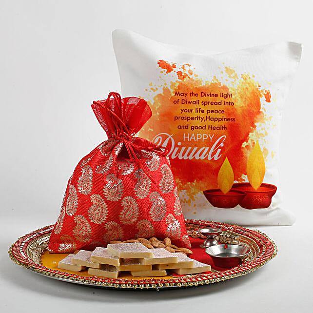 Beautiful Red Potli Happy Diwali Hamper: Send Diwali Gifts for Her