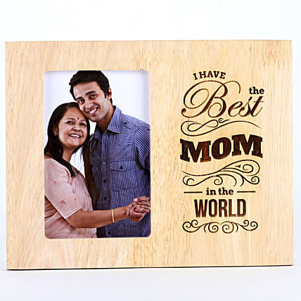 Best Mom In The World Photo Frame: Personalised Engraved