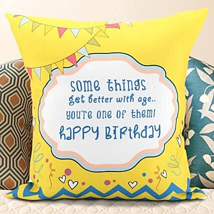 Birthday Message Cushion Gifts For Girls