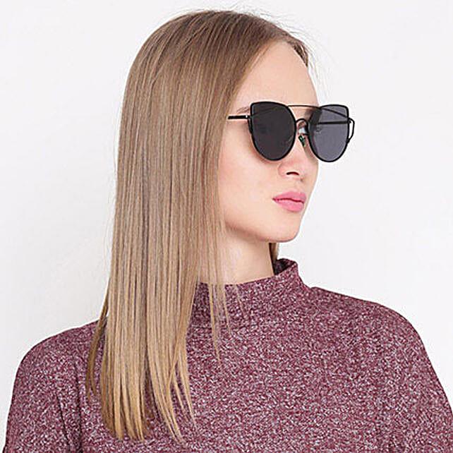 Black Cat Eye Women Sunglasses: Accessories