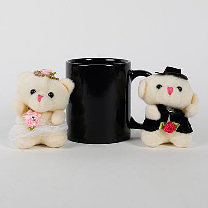 Black Mug & Teddy Bears Combo: Combo Gifts