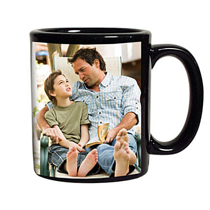 Black Personalized Coffee Mug: Personalised Mugs for Fathers Day
