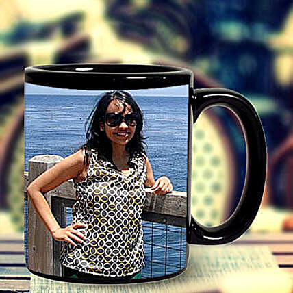 Black Photo Mug Personalized: Custom Photo Coffee Mugs