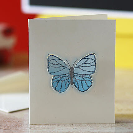 Blue Butterfly Greeting Card: Gifts for 75Th Birthday