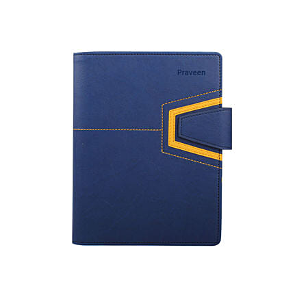 Blue Leather Personalised Organiser: Personalised Stationary