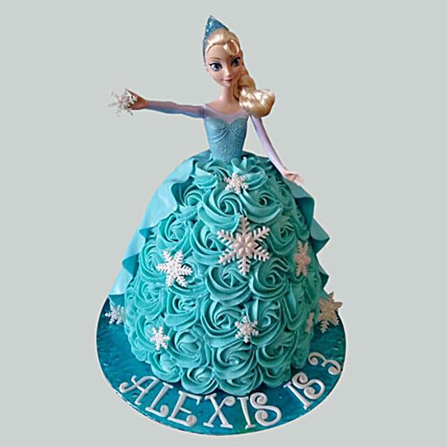 Blue Roses Barbie Cake: Cinderella Cakes