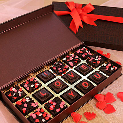 Box Of Love You Chocolates & Brownies: Chocolate Gifts in India