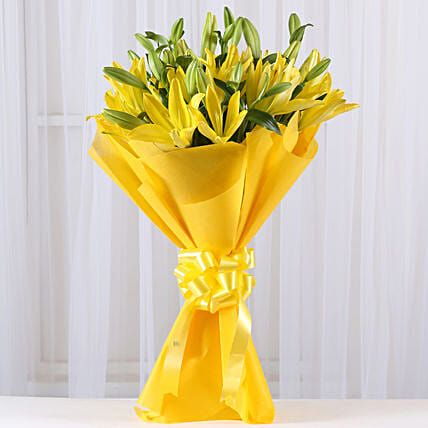 Bright Yellow Asiatic Lilies: Flowers to Rohtak