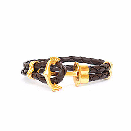 Brown anchor Braided Bracelet: Friendship day Bracelets