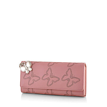 Butterflies Baby Pink Wallet: Buy Handbags