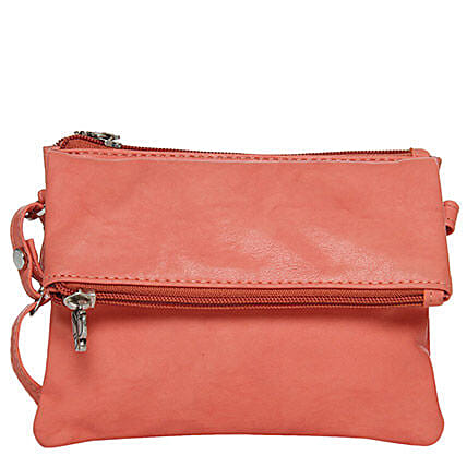 Butterflies Classy Dark Peach Sling Bag: Handbags and Wallets