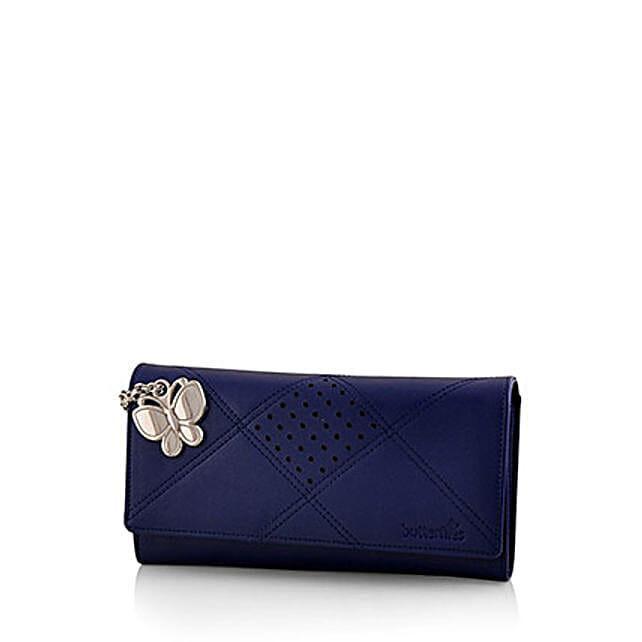 Butterflies Exotic Blue Wallet: Buy Handbags