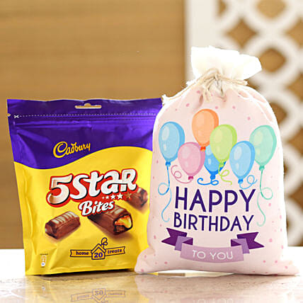 Cadbury 5 Star Pack & Birthday Gunny Bag: Cadbury Chocolates
