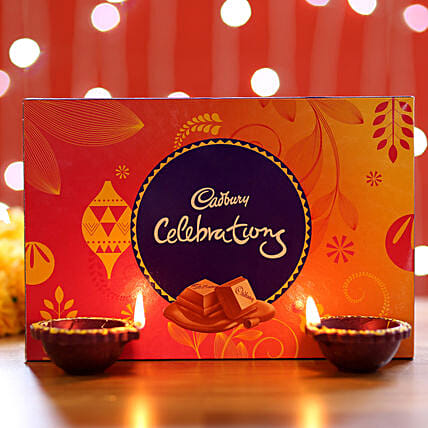 Cadbury Celebrations Box & Diyas: Diwali Gifts for Parents