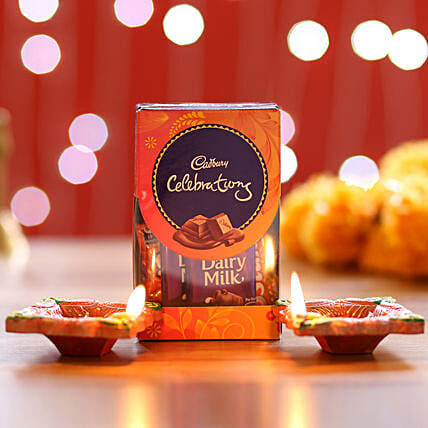 Cadbury Celebrations Pack & Diyas: Diwali Diyas