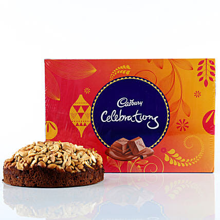 Cashew Cake & Cadbury Celebrations Combo: Combo Gifts