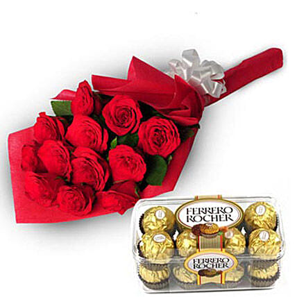 Charming Roses: Ferrero Rocher Chocolates