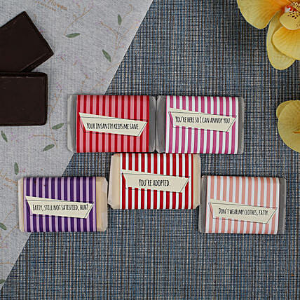 Chocolate Bars For All- 5 Pieces: Personalized Chocolate Gifts