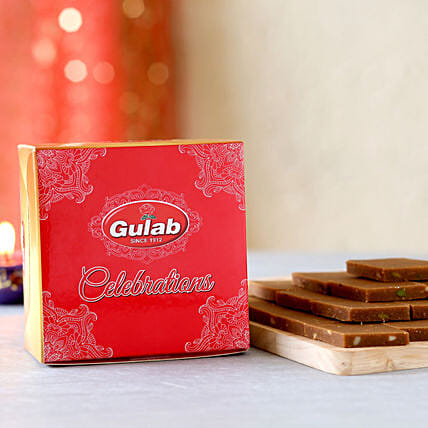 Chocolate Burfi Box: Send Eid Gifts