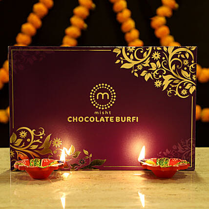 Chocolate Burfi & Diya: Buy Sweets