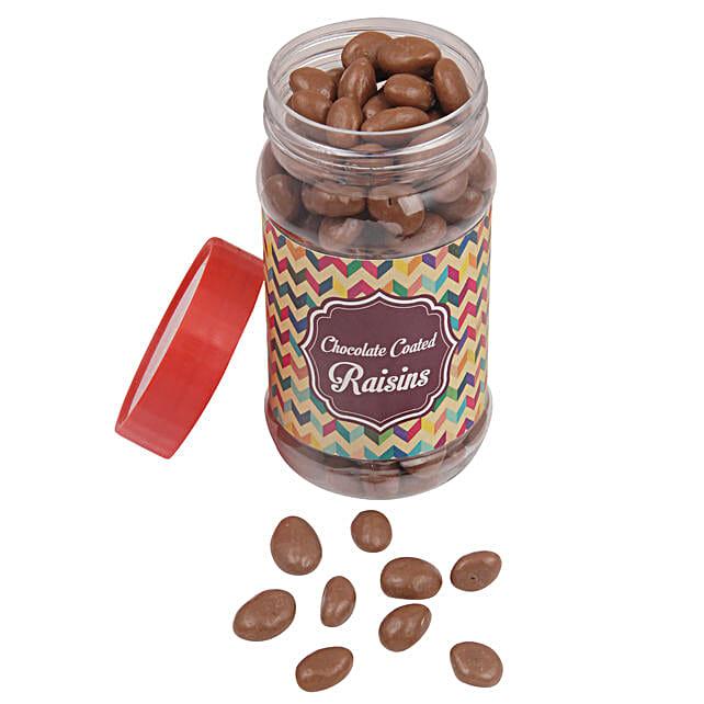 Chocolate Coated Raisin Jar: Birthday Chocolates