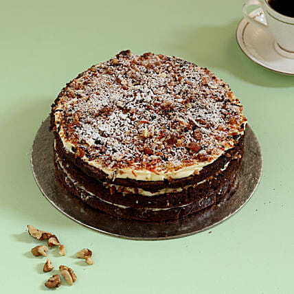 Chocolaty Carrot Walnut Cake: