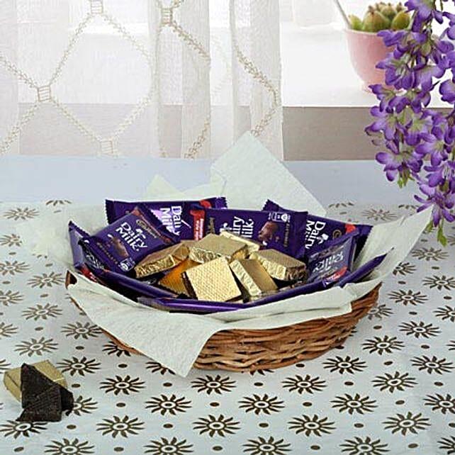 Chocolaty Wish Basket: Send Gift Baskets