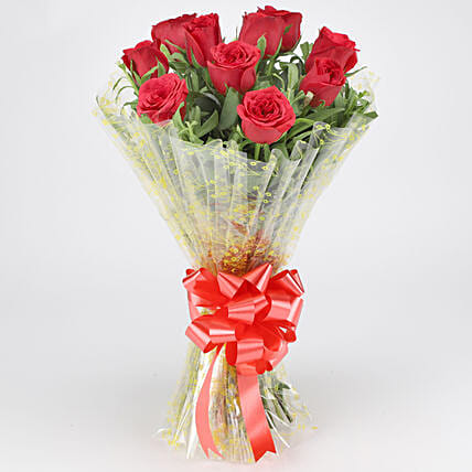 Classic Red Roses Bouquet: Flowers for Valentines Day