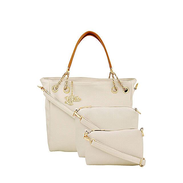 Classy Cream LaFille Handbag Set: Handbag Gifts