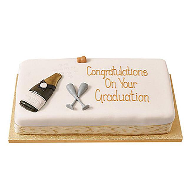 Congratulations Fondant Cake: Send Designer Cakes