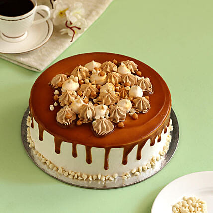 Cream Drop Caramel Cake:
